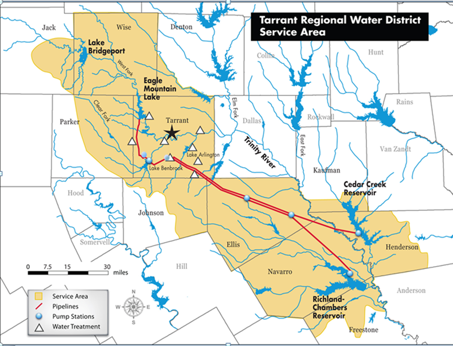Tarrant Regional Water District Service Area